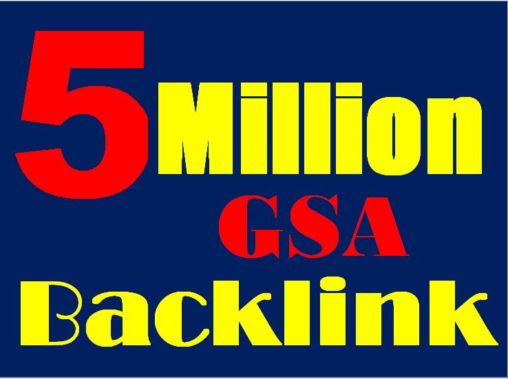 5 Million verified GSA Backlink for websites,  videos to achieve your goal