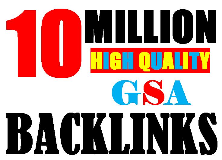 10 Million verified GSA Backlink for websites,  videos to achieve your goal