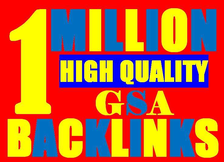 1 Million verified GSA Backlink for websites,  videos to achieve your goal