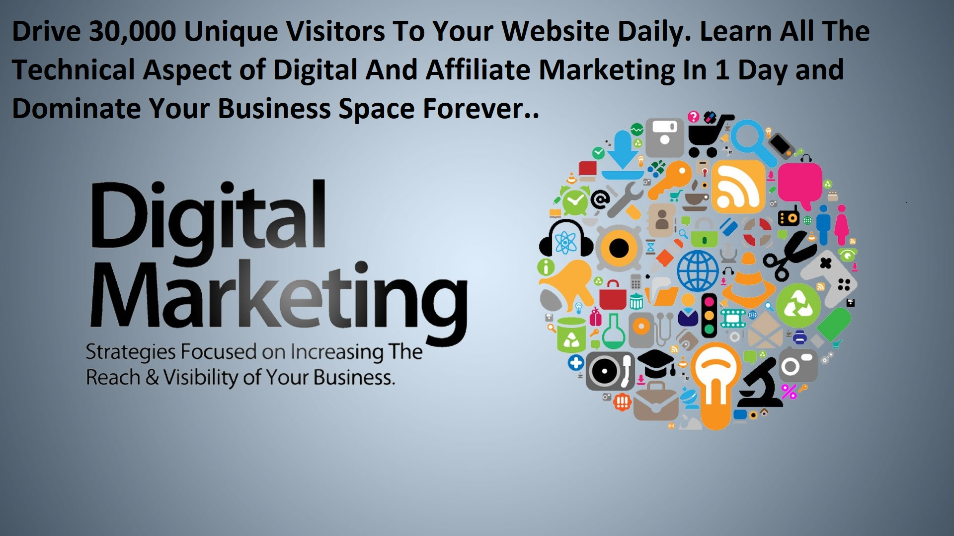Drive 30,000 Unique Visitors To Your Website Daily. Know All The Technical Aspects Of Your Business.
