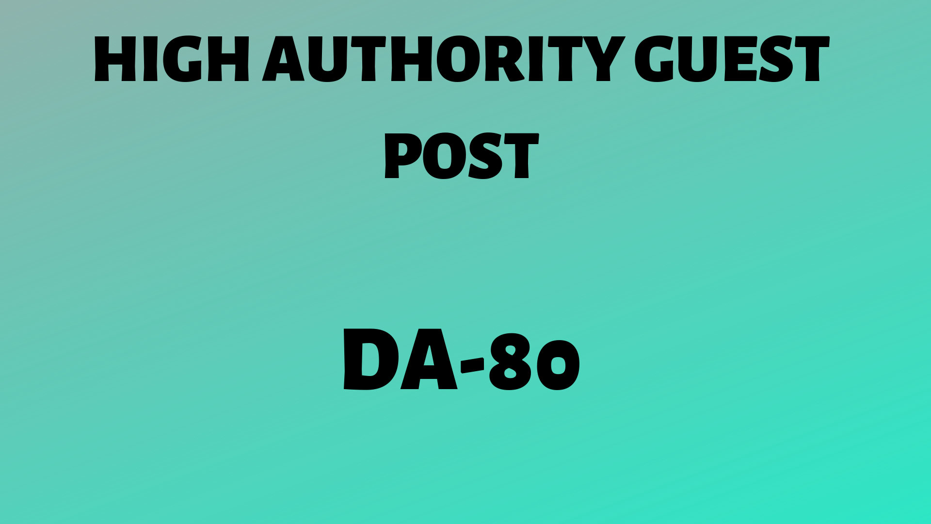 Guestpost on DA-80 website with a backlink.