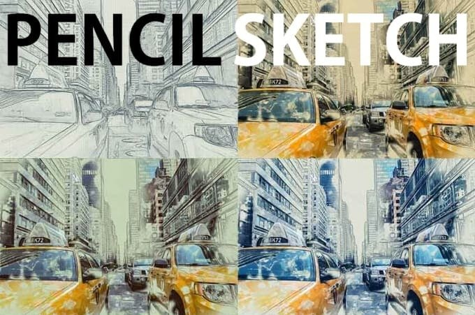 Convert Your 3 Pictures To Colour Sketch