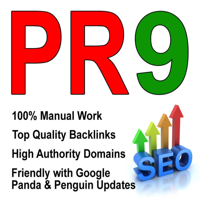 Build 10 PR9 SEO Optimized Backlinks manual no black hat no boot,  Penguin Panda Safe