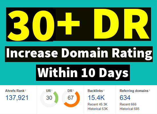 I will increase ahrefs domain rating DR 30 plus