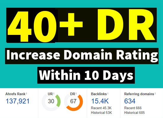 I will increase ahrefs domain rating DR 40 plus