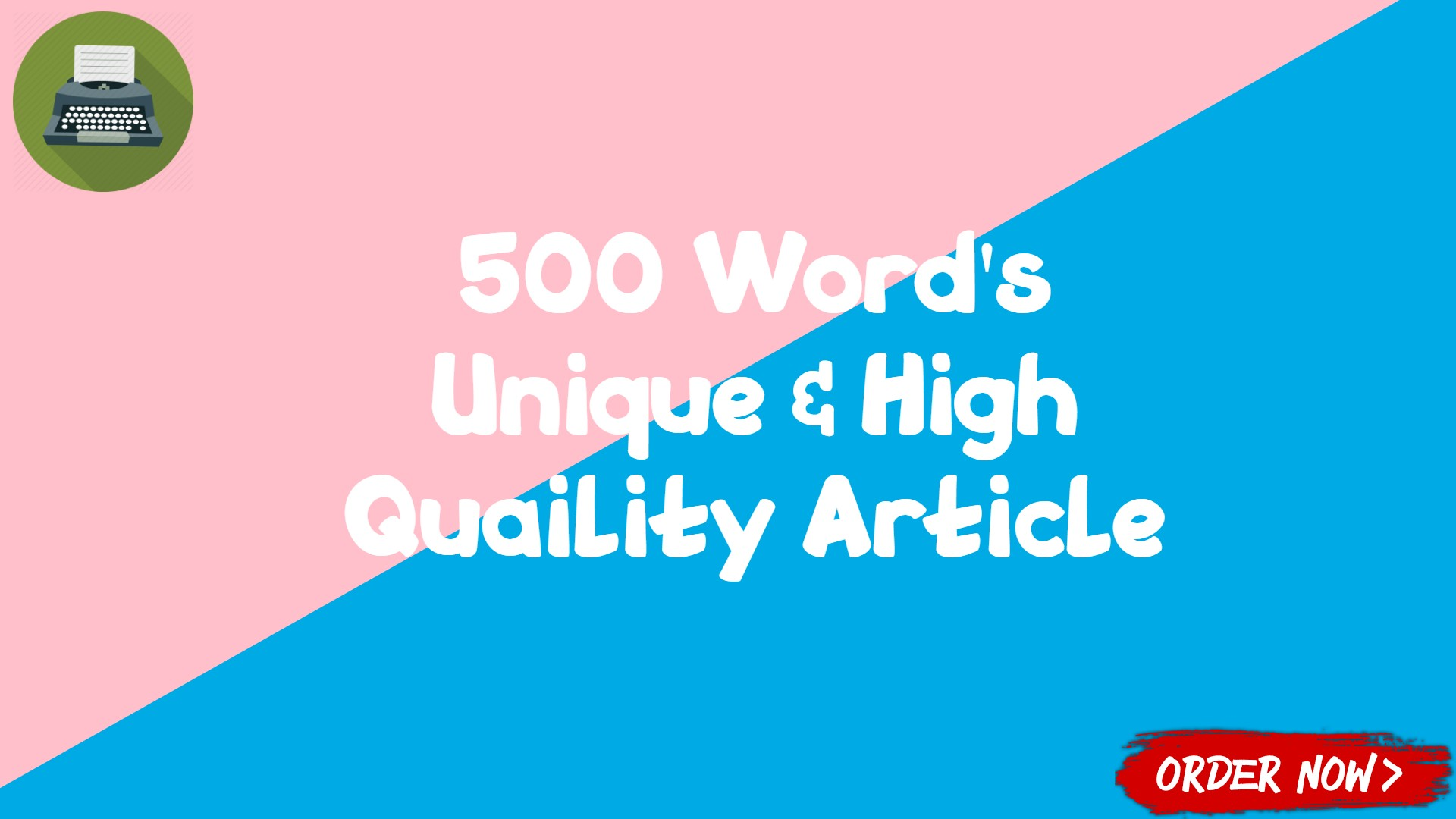 400-500 Words Unique and High Quality Article