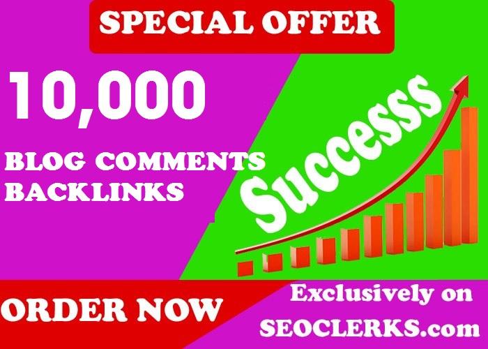 10,000 GSA BlogComments Backlinks for Google Seo