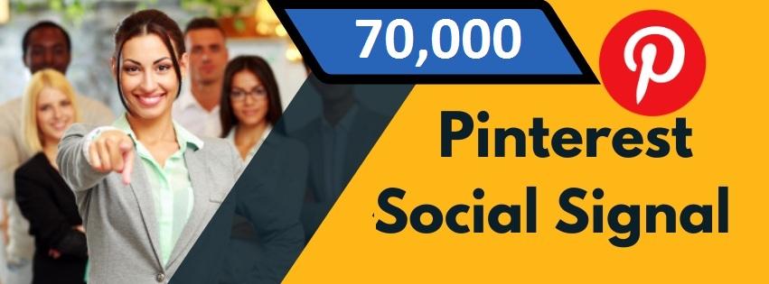 Provide 70,000 Pinterest Social Signal Share manually Service HQ SEO PBN Backlink Boost Bookmark