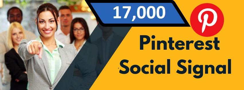 Provide 17,000 Pinterest Social Signal Share manually Service HQ SEO PBN Backlink Boost Bookmark