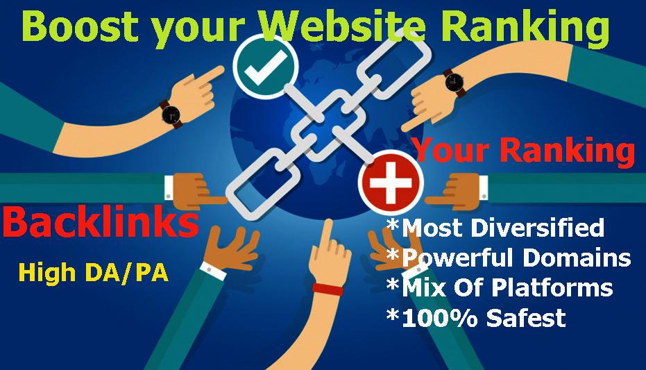 Rank WebSite On Google fast page under 30days, Create Manual BACKLINKS