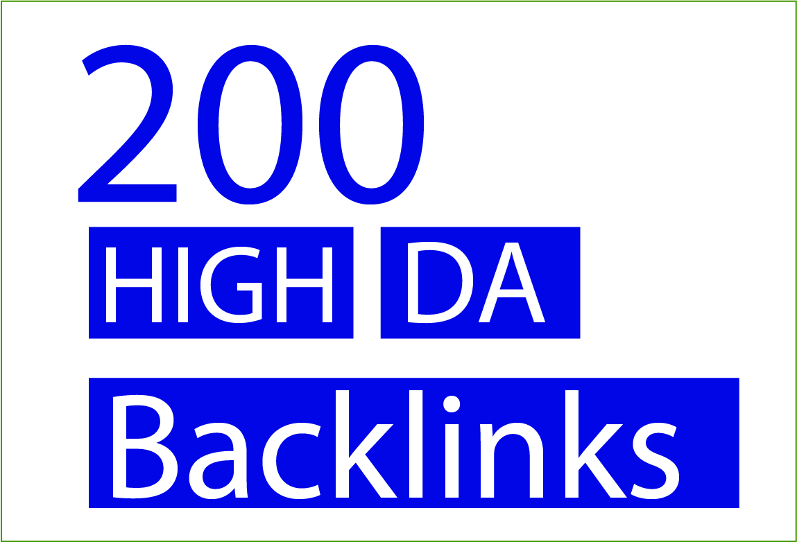 Provide 200 High Da Backlinks Service For Your SEO Service