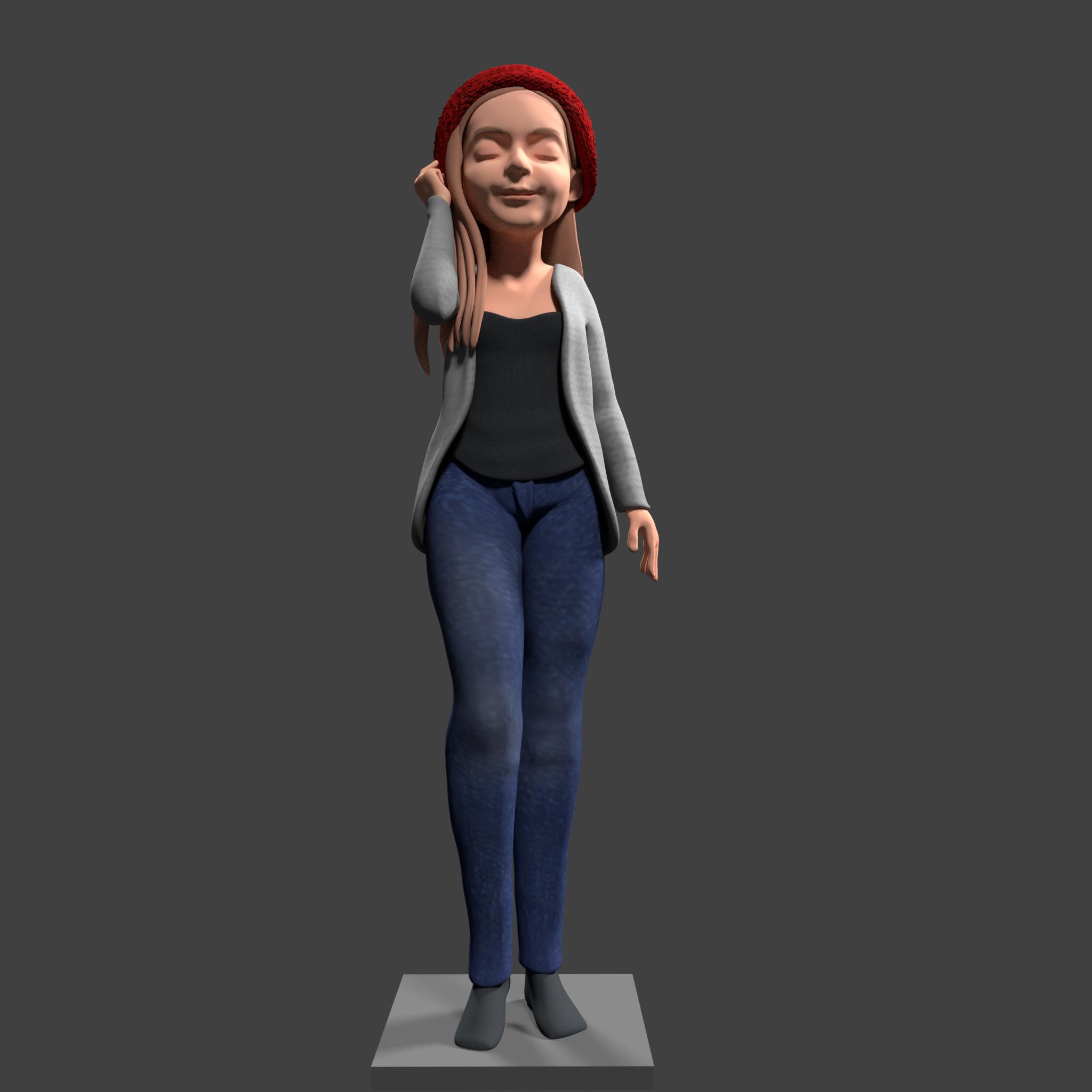CUTE CHARACTER 3D CARTOON FOR 3D PRINT.3D CHACARTER ANIMATION