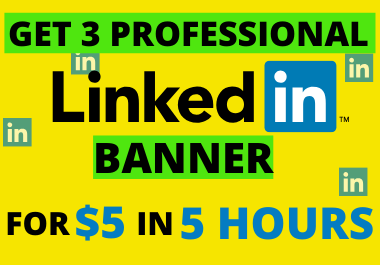 Professional Linkedin Banner in 5 hours