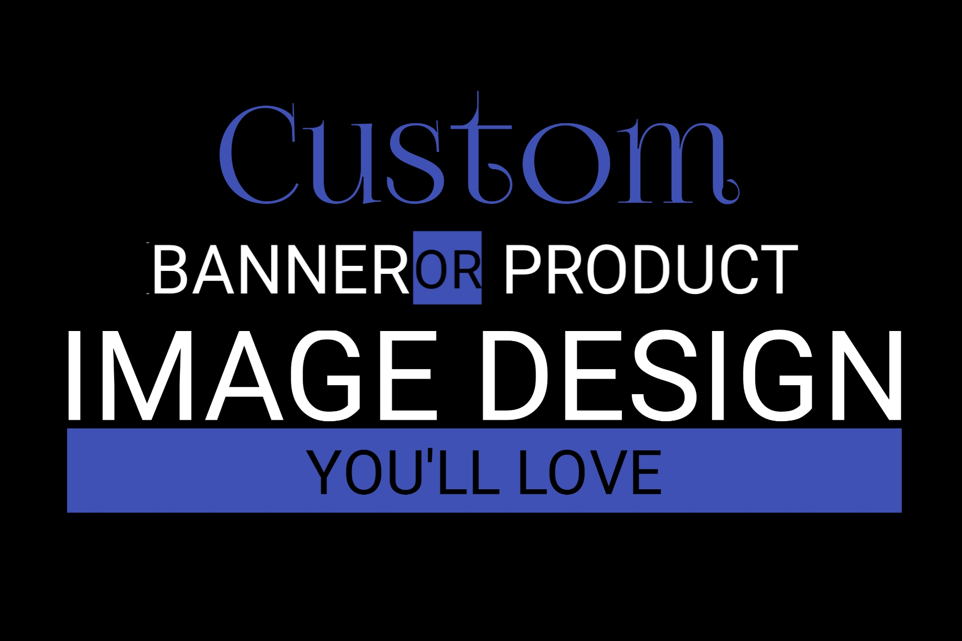 Design simple and 3d text banner for your website blog and social media