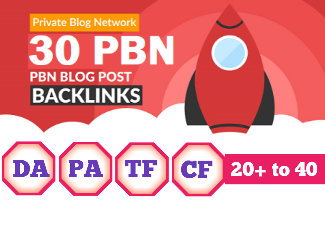Will Do 30 PBN Manual Homepage Permanent PBN Backlink With High DA PA Best PBN
