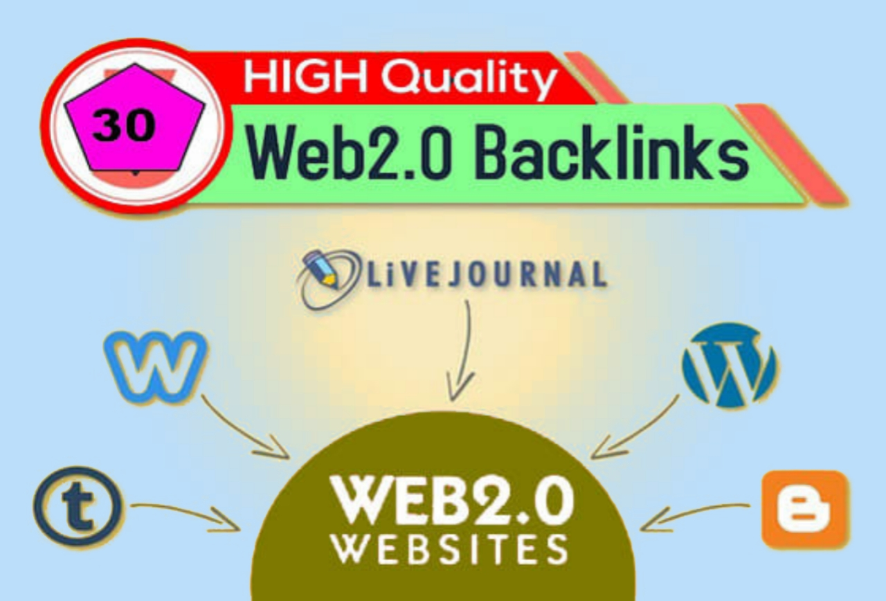 30 web 2.0 BACKLINKS with high da pa