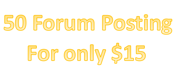 Manual high quality 50 post forum for your website