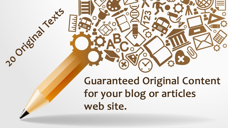 20 + Original Text for your Blog/Article Site