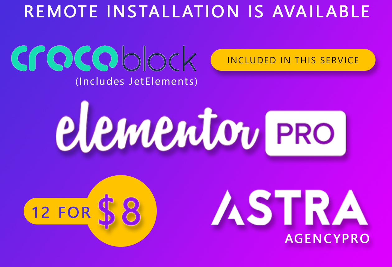 Elementor Pro with JetElements and Astra Pro
