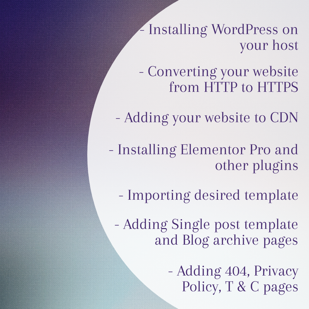 WordPress installation,  HTTP to HTTPS and CDN Integration