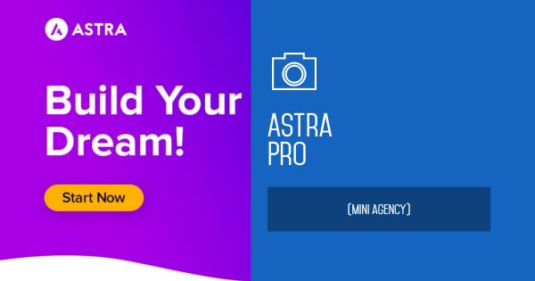 Astra Pro with Agency Template importer