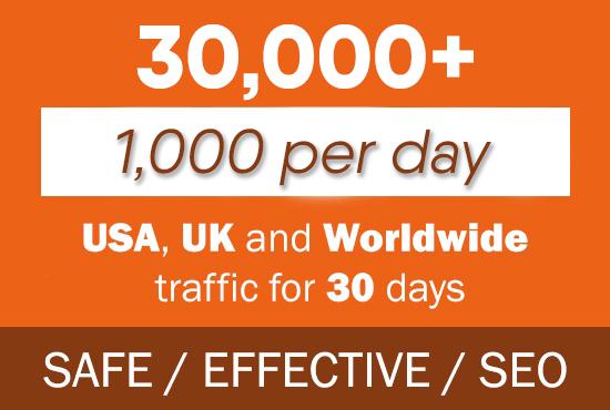 30,000 Google / Bing Organic Keyword Traffic
