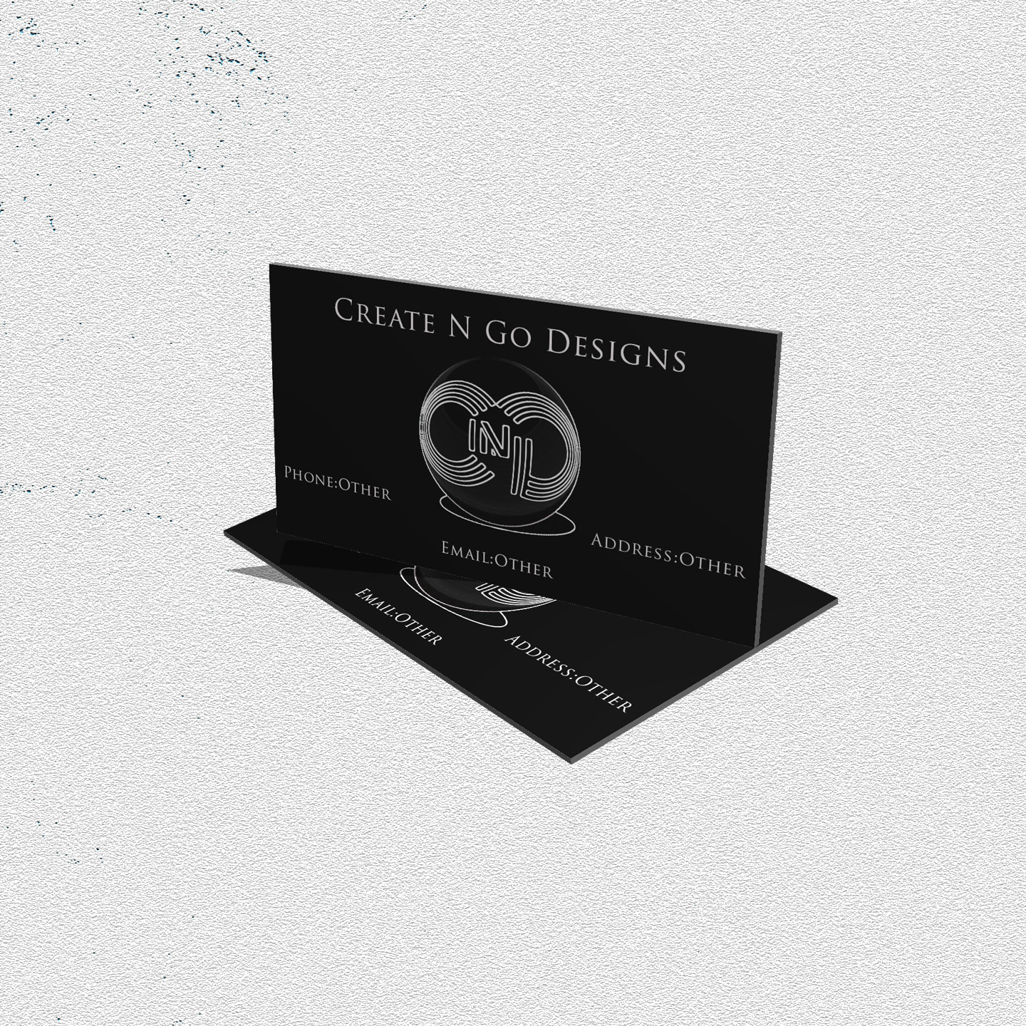 If you are looking for a a design or logo for your business cards contact me