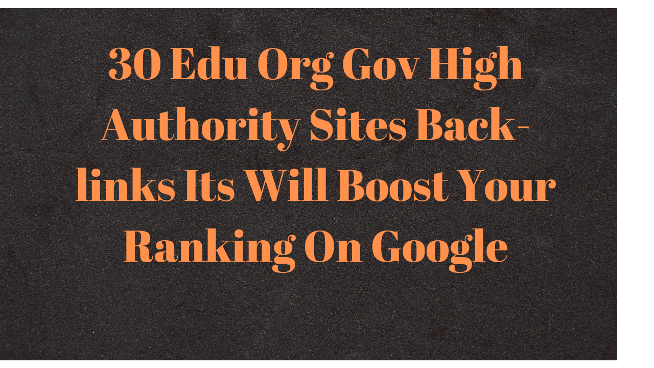 Rank on Google First Page 30 Edu Manually Created High Authority Backlinks