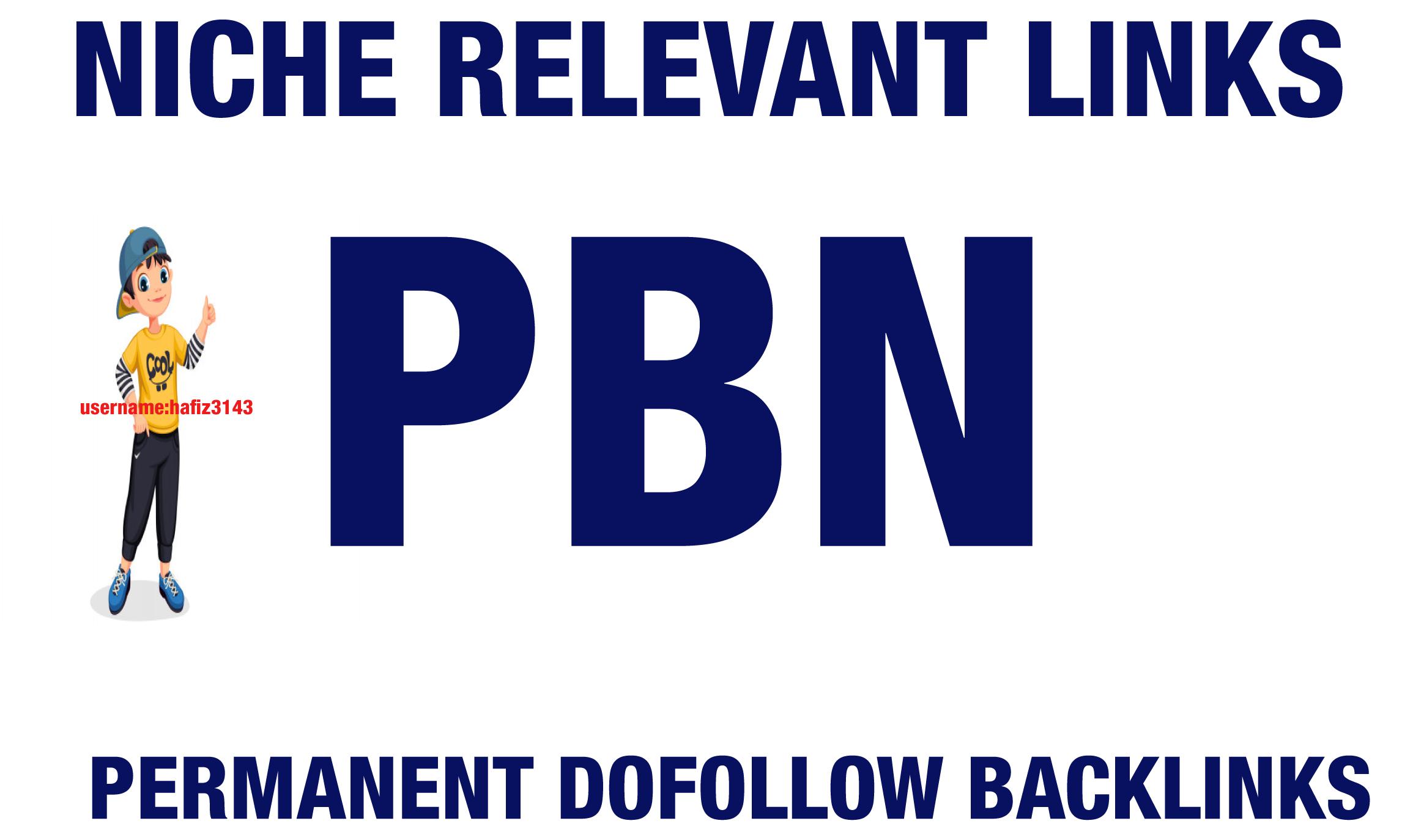 10 Niche Relevant Permanent Dofollow PBN Backlinks