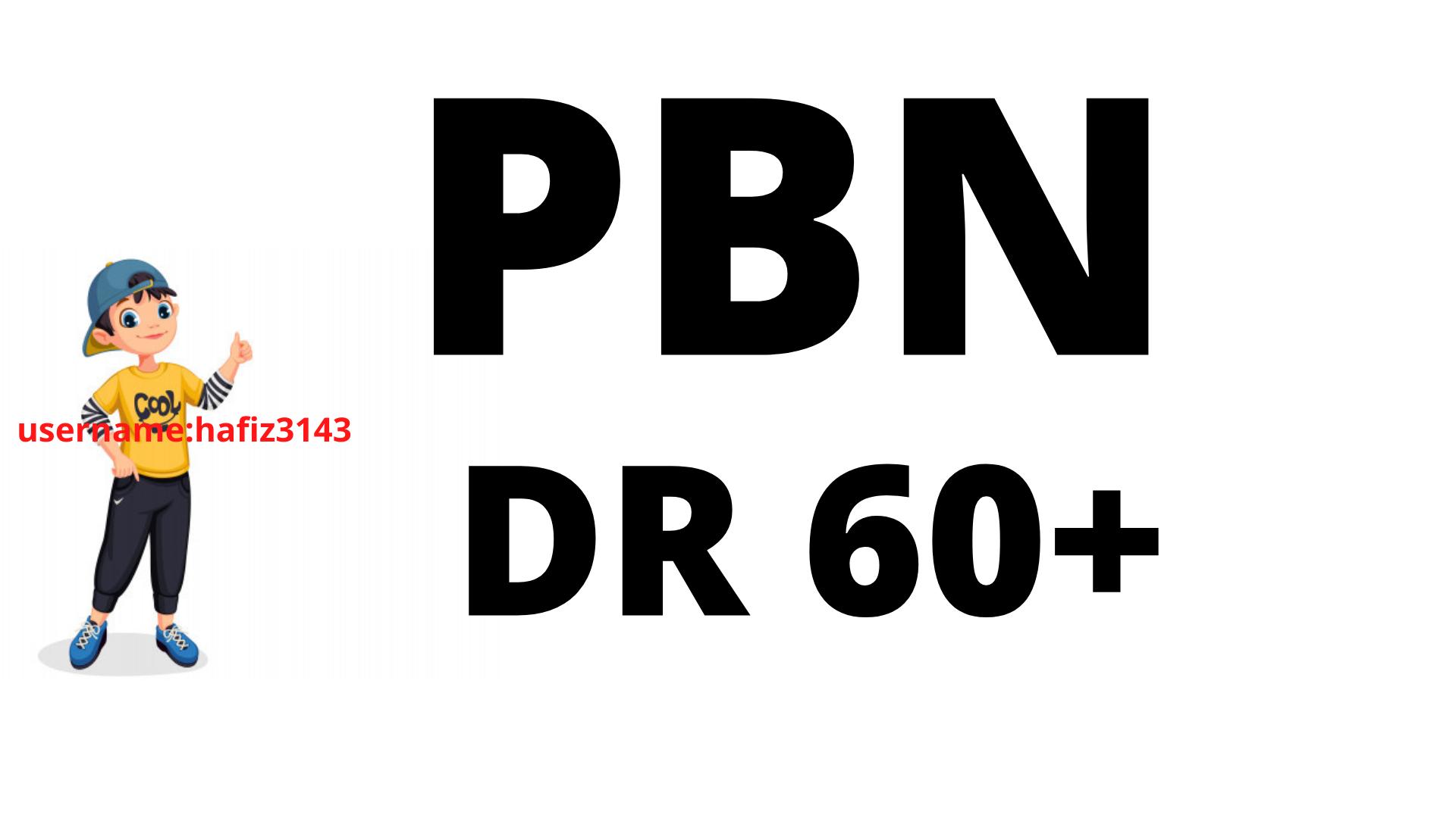 Build DR 60 Plus 50 PBN BACKLINKS
