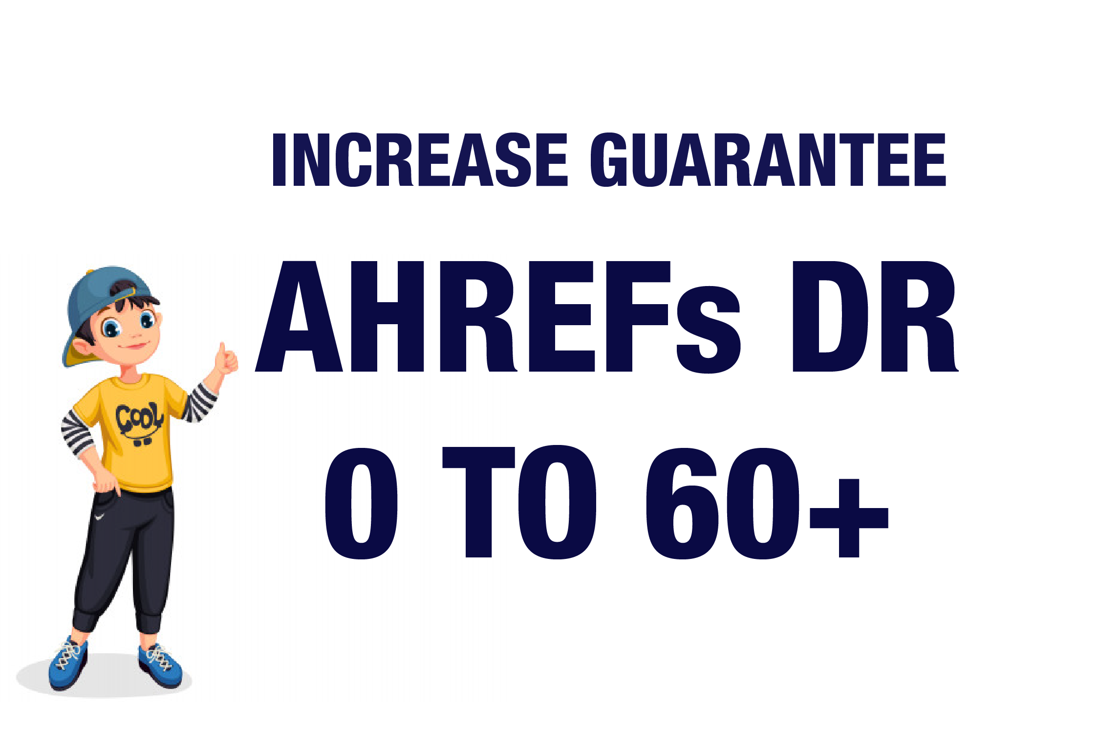 I will Increase Ahrefs DR 0 To 60 Plus Guaranteed