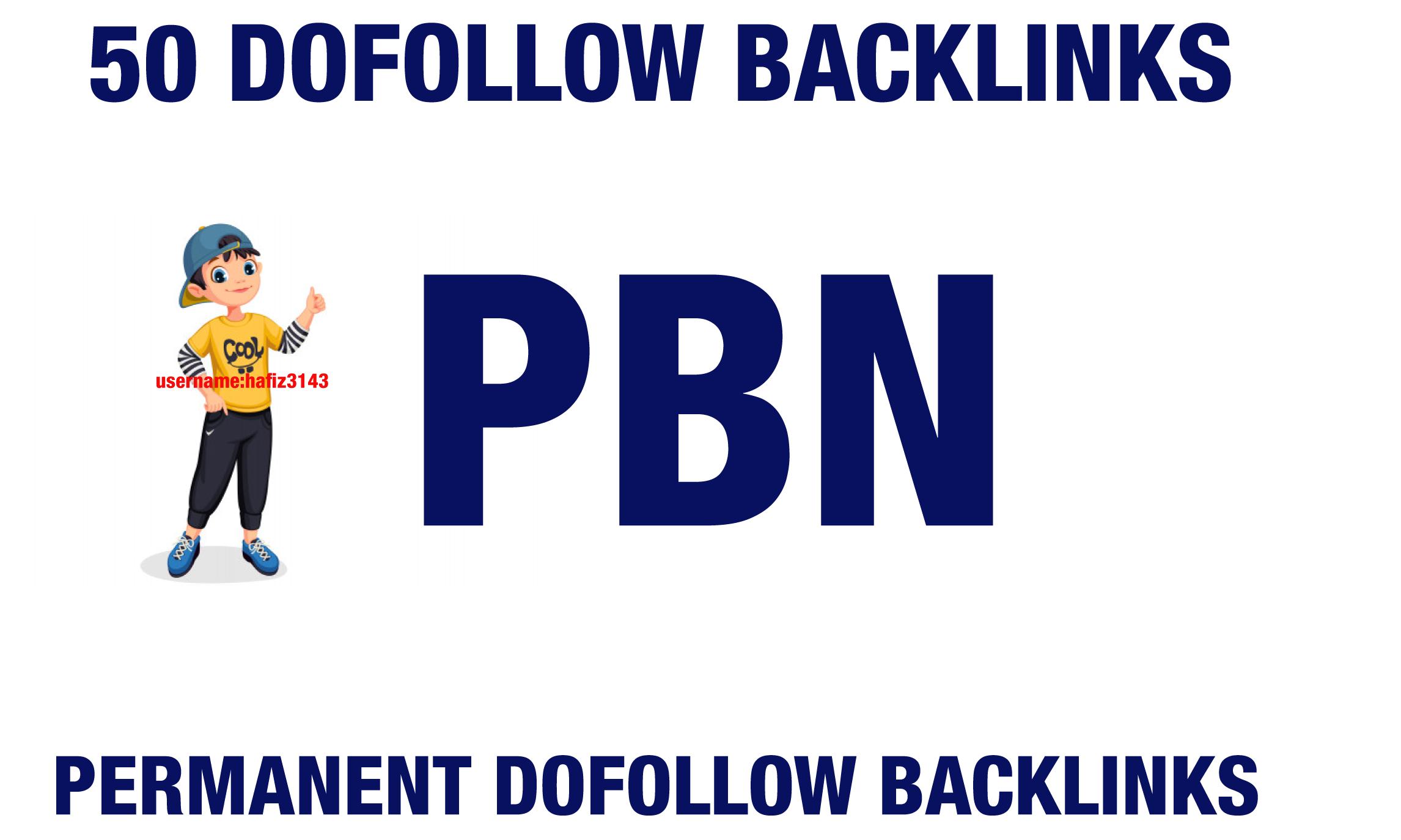 50 Permanent Dofollow PBN Backlinks