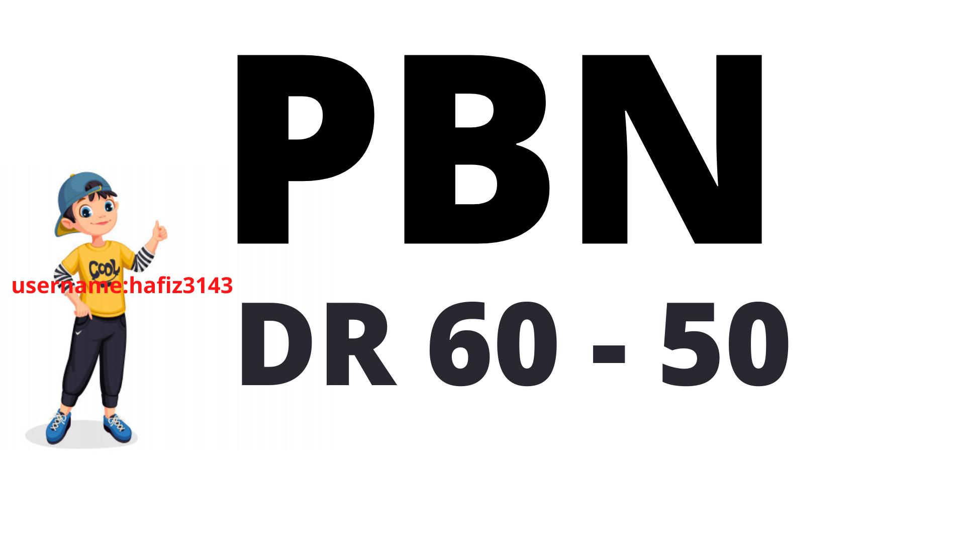 Build DR 60 50 Plus 50 PBN BACKLINKS