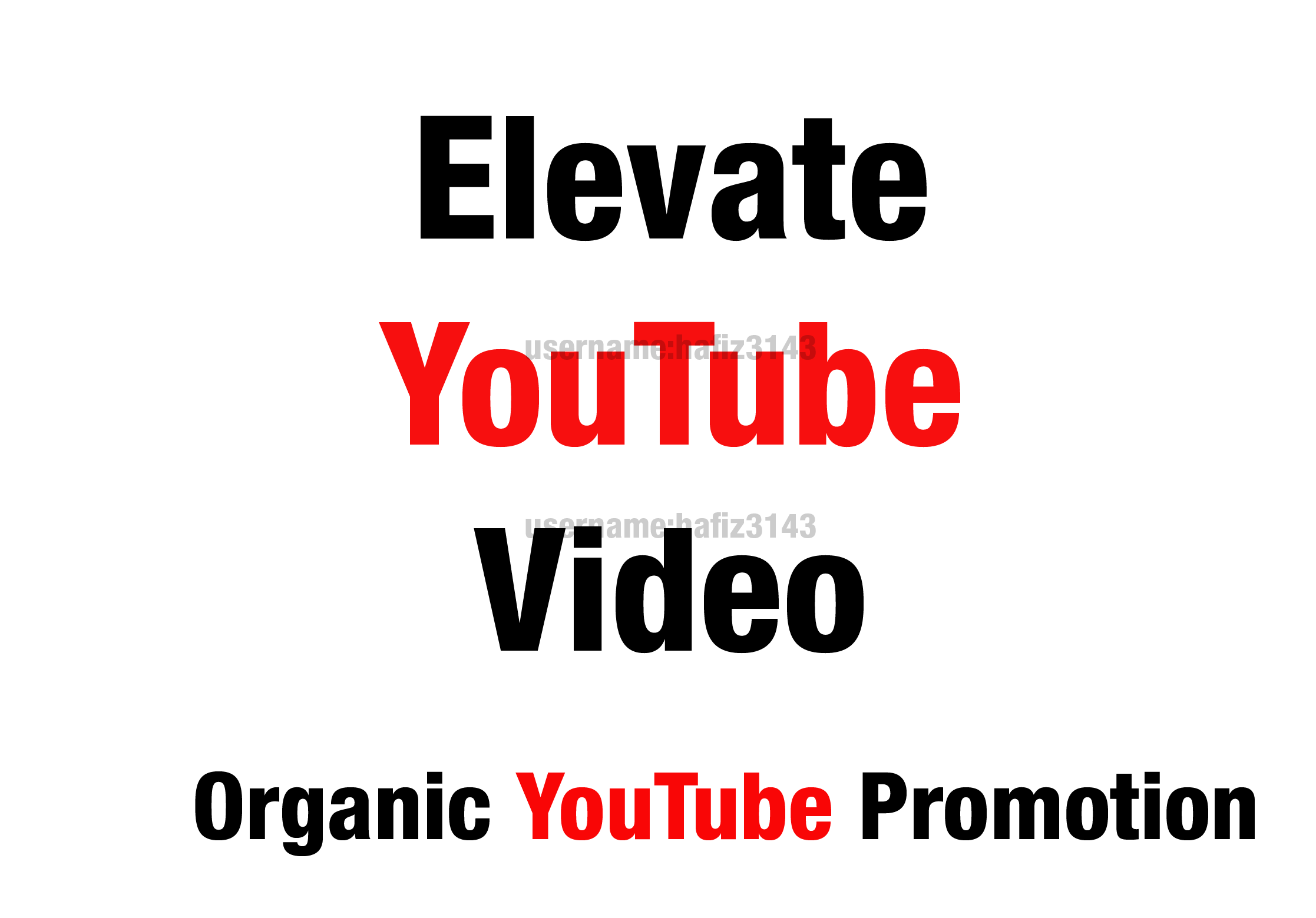 I will do organic YouTube video promotion Elevate YouTube Video