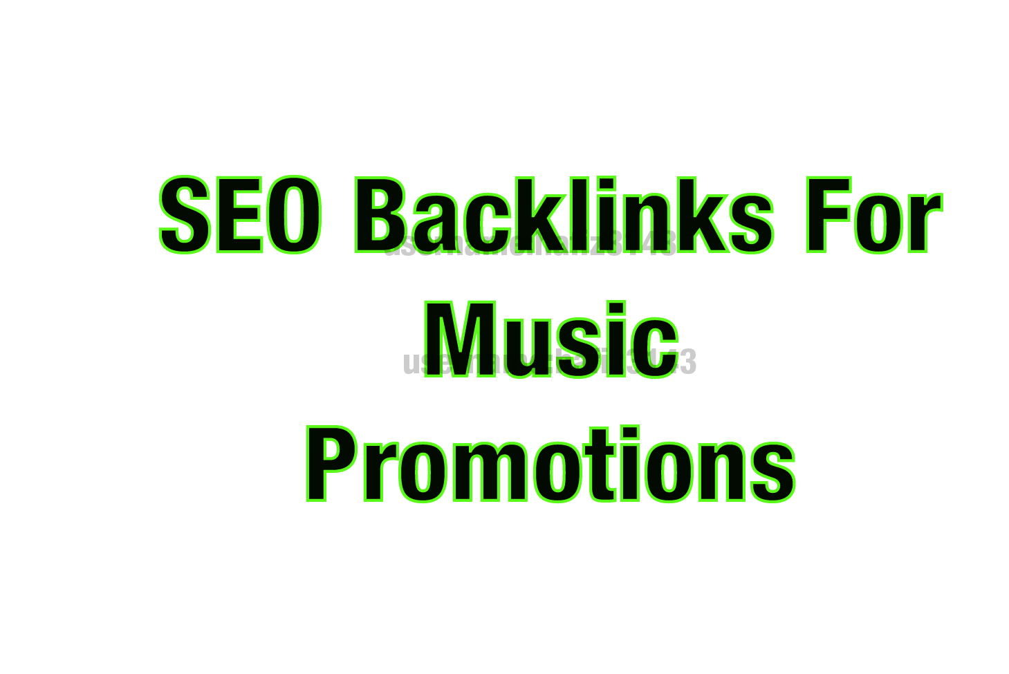 I will Provide High Quality SEO Backlinks For Music Promotions
