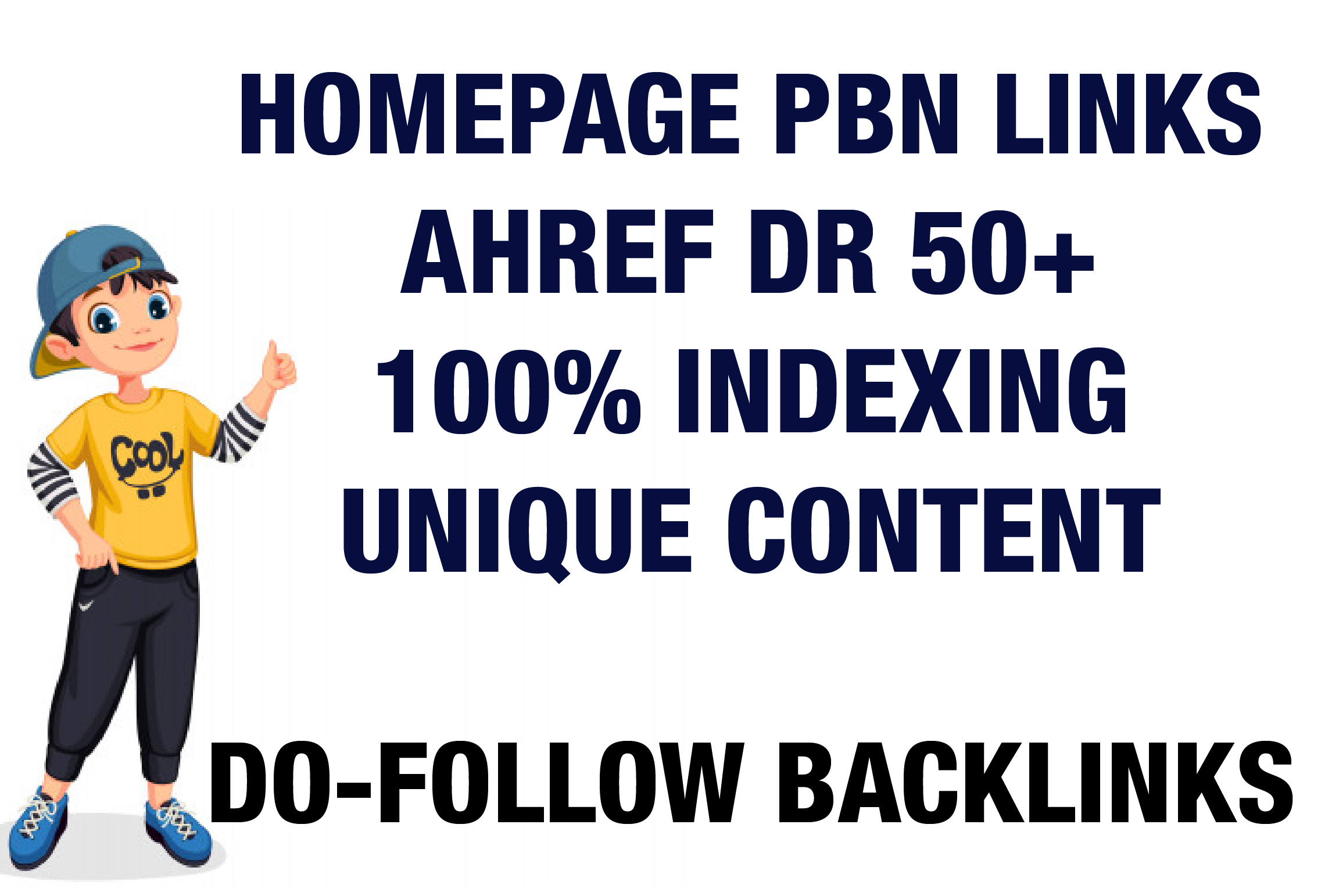 I will Provide 10 DR 50 Plus Home Page PBN Backlinks