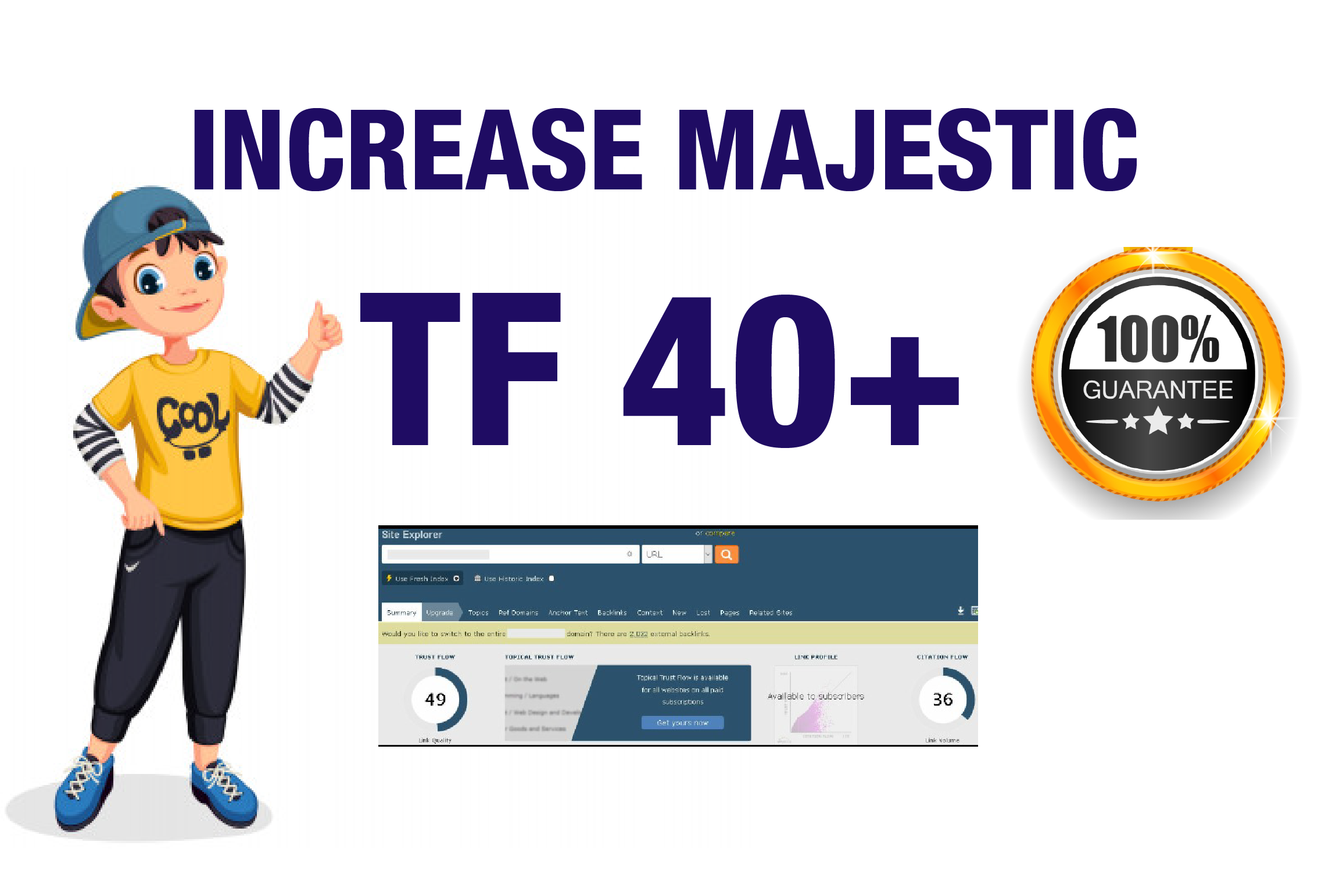I will help you to increase majestic Trust Flow 40 plus