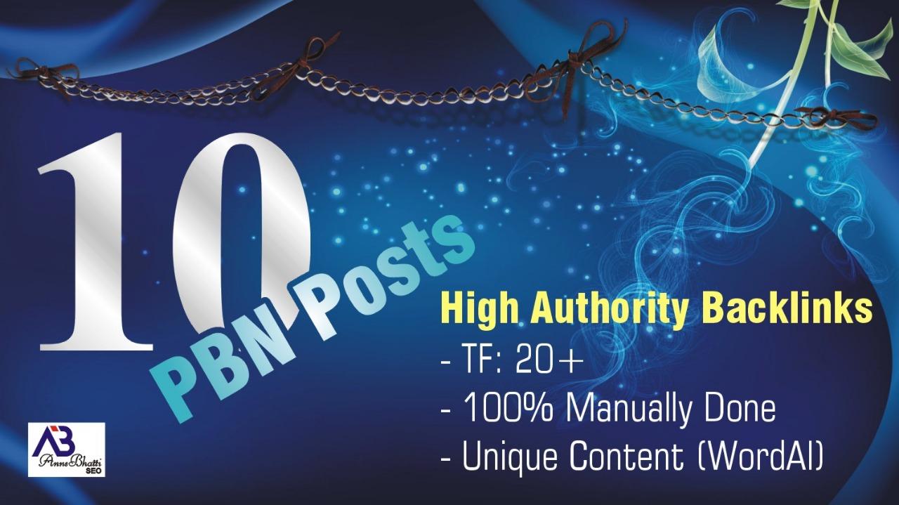 I Can Offer 10 Large Trust Pbn Backlinks