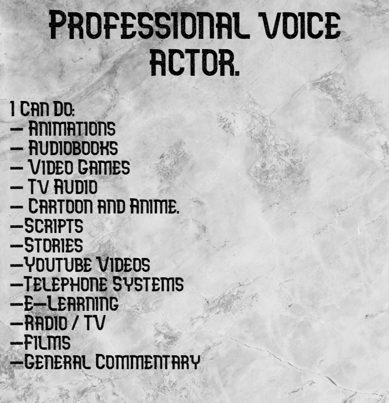 Get a professional voice over artist