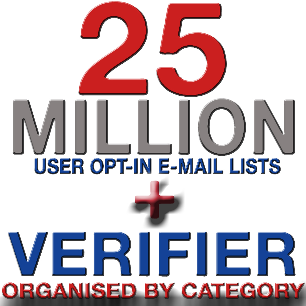 Selling these Millions of Valid User Opt-In Email Lists