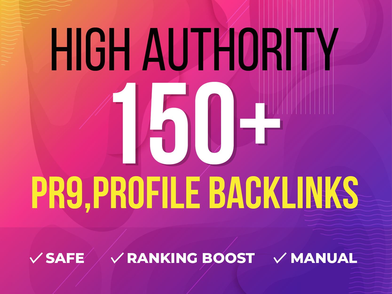 Manually 150+ High Authority PR9,  Profile and SEO Backlinks for 5