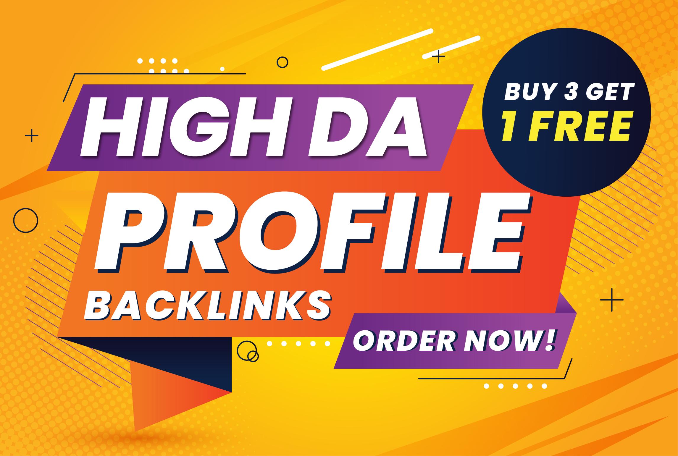 50+ TOP BRAND High DA,  PA,  PR9 Profile Backlinks,  SEO linkbuilding