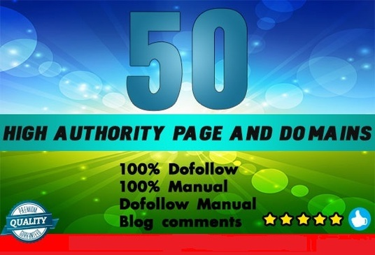 I will make high da pa 50 do follow manual blog comments