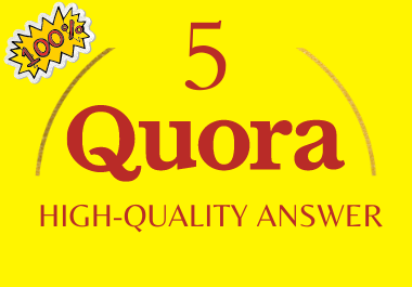 Posting high quality 5 Quora answer with your link