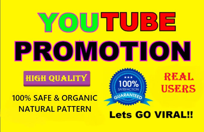 Organic and Best High Quality YouTube Video Promotion