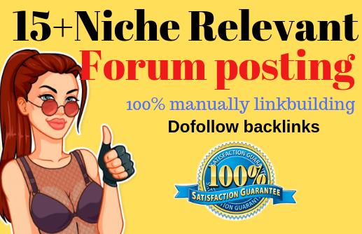 15 High Quality Niche Relevant Forum Posting Backlinks