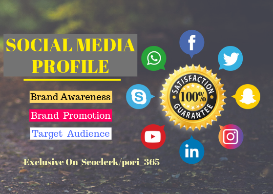 Promotion Your Buisness With 40 Social Media Profile, High Quality Backlinks