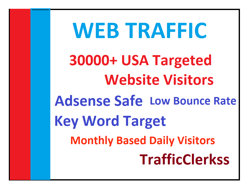 Drive 30,000 USA Traffic, Website Visitors, From Search Engines