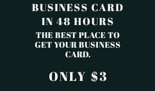Design your business card Professional & PRINT READY