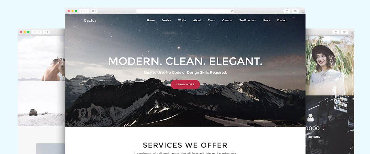 I will build you a modern wordpress website